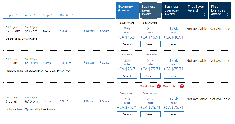 canadiantraveltips - united air search