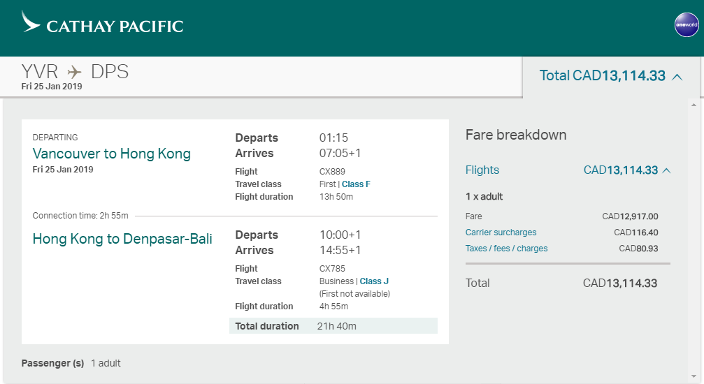 canadiantraveltips-cathay flight cost