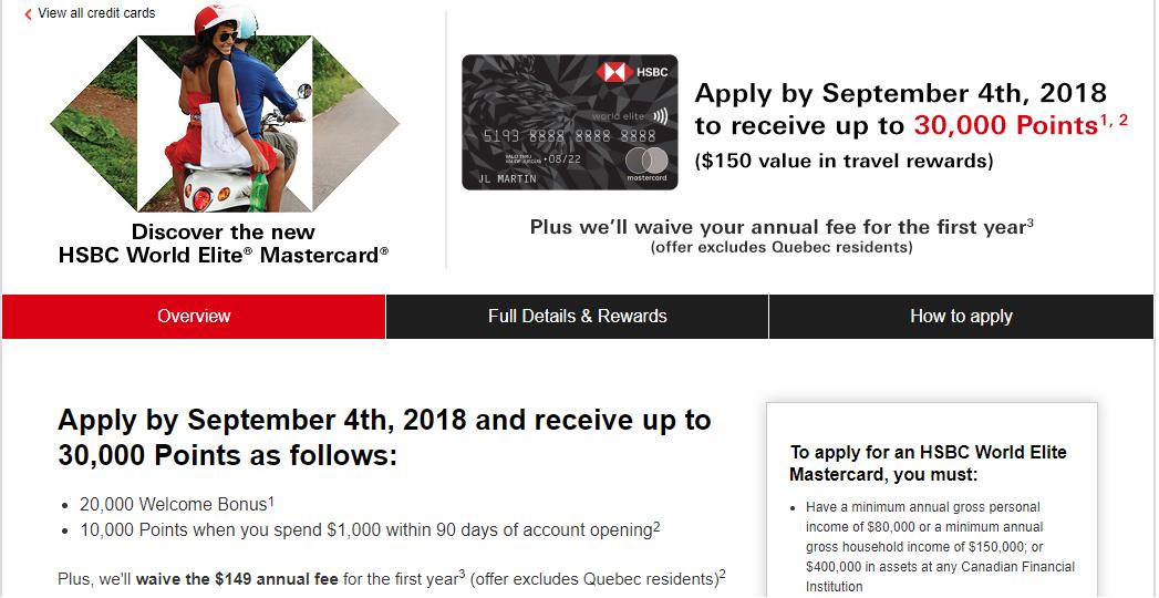HSBC Reward Points – CanadianTravelTips