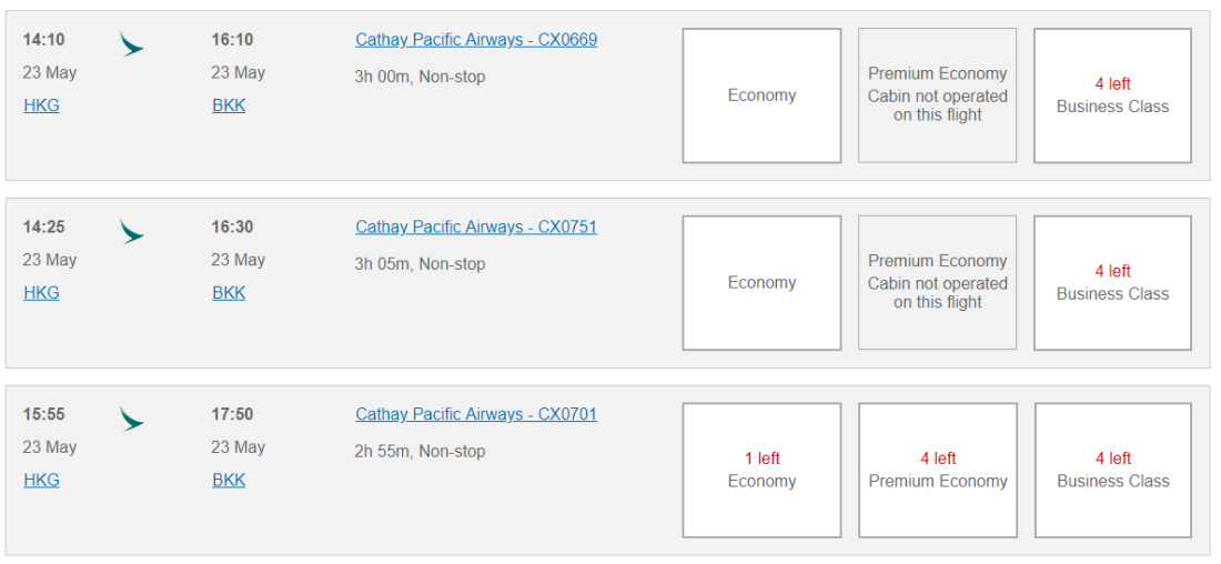 canadiantraveltips-oneworld search cathay hkg-bkk