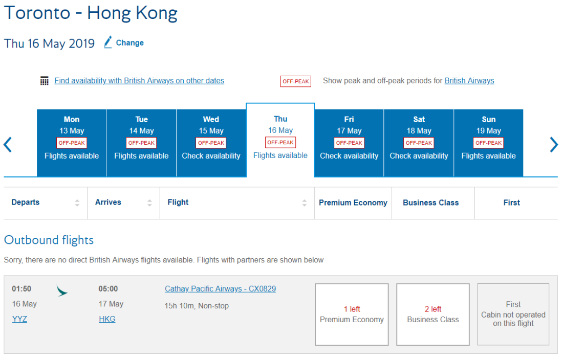canadiantraveltips-oneworld search cathay