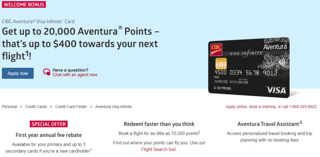 canadiantraveltips - CIBC Aventura travel credit cards