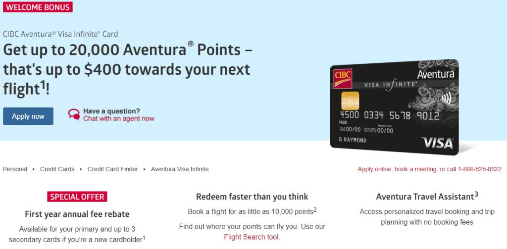 canadiantraveltips - CIBC Aventura travel credit cards