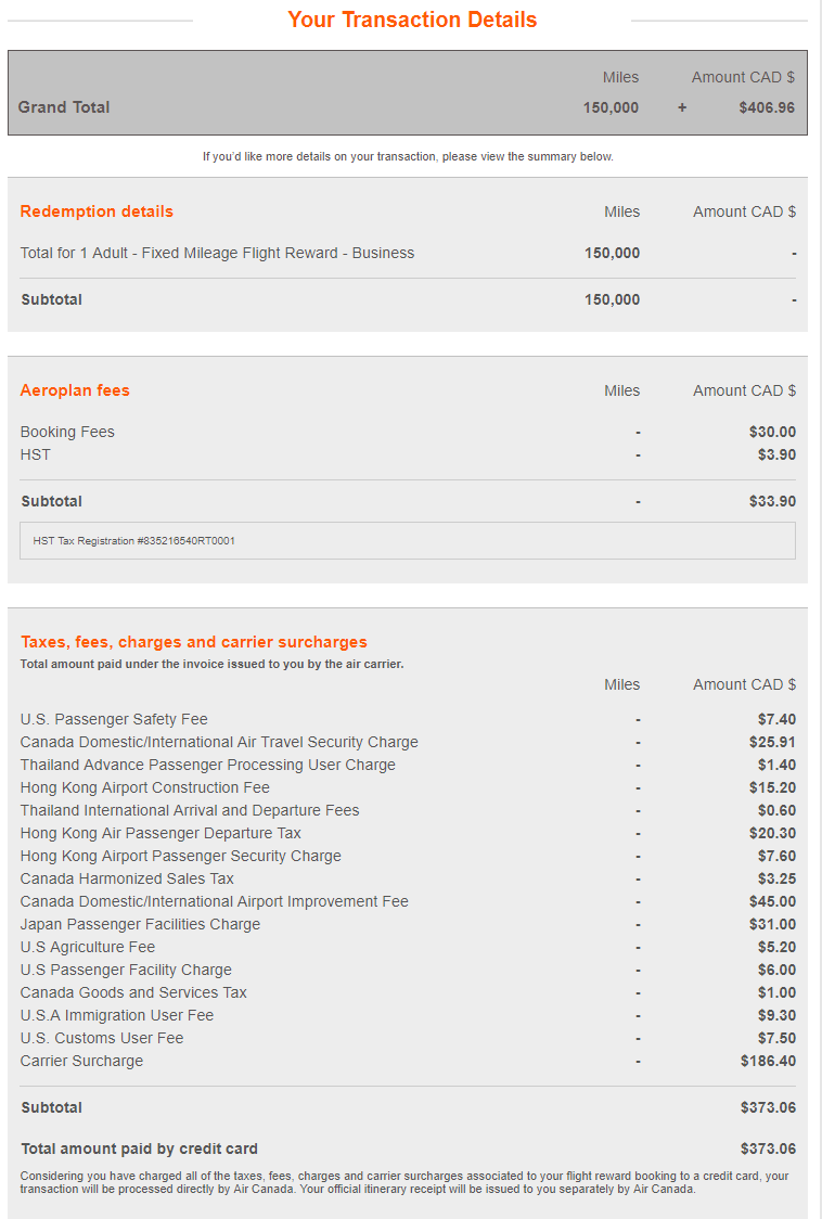 canadiantraveltips - aeroplan booking fees