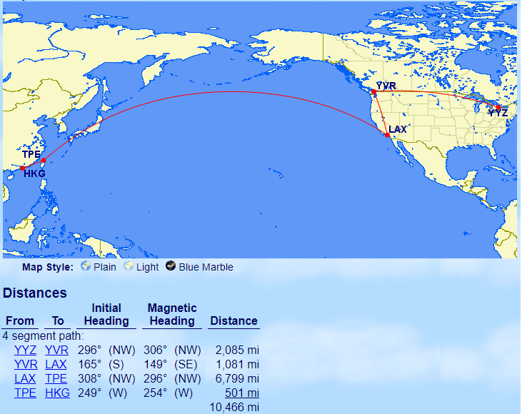 canadiantraveltips - outbound route