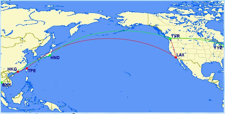 aeroplan flight map