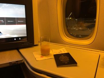 Air Canada business class 777