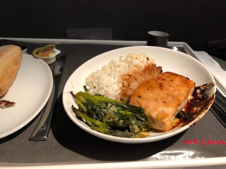 Air Canada A321 food
