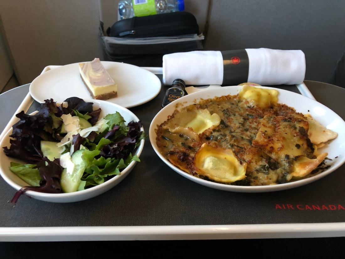 Air Canada business class food