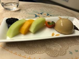Eva Air Business Class 777 food