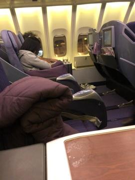 Thai Airways 747-400 business class